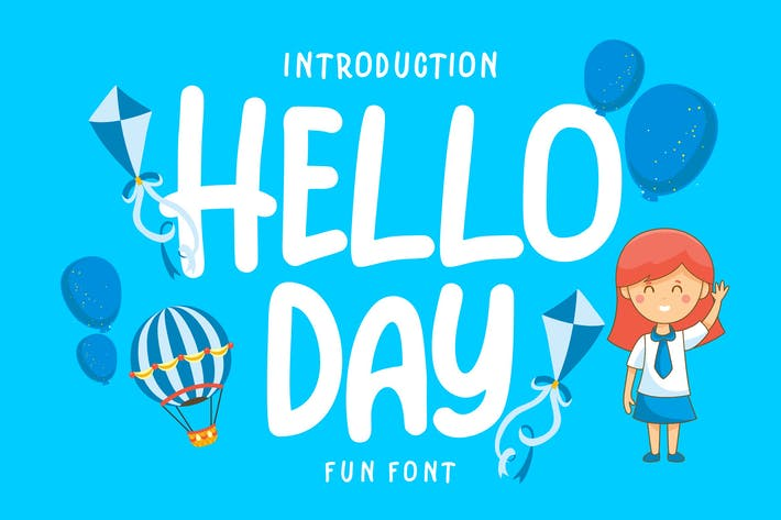 Thumbnail for Día de Helo | Kids Fun Font