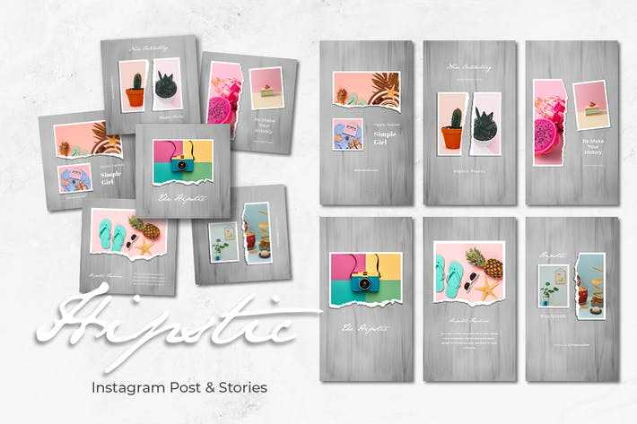 Hipstic Instagram Post and Stories