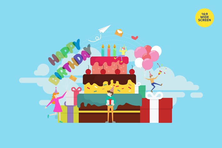 Thumbnail for Birthday Party Celebration Vector Concept