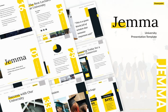 College and University Powerpoint Template