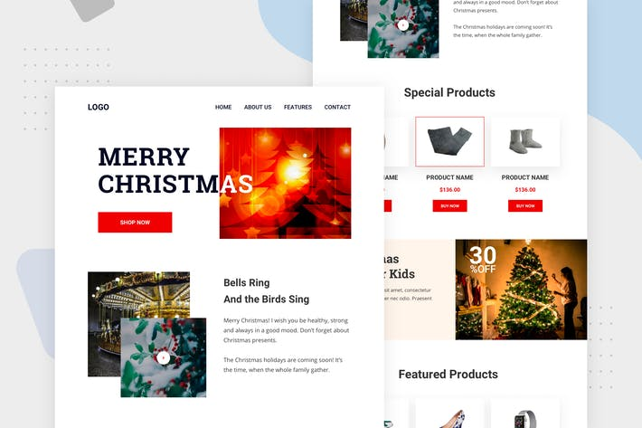Cover Image For Merry Christmas Sale - Email Newsletter