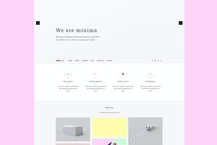 Minima - Plantilla Joomla Creativa y Profesional