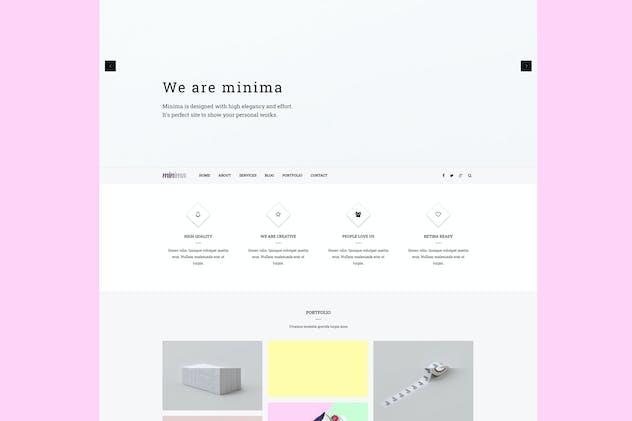 Minima - Creative & Professional Joomla Template