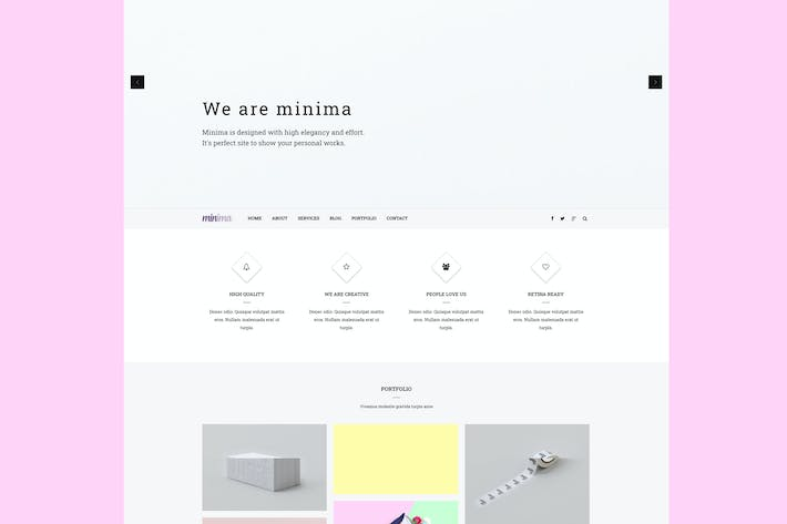 Thumbnail for Minima - Creative & Professional Joomla Template