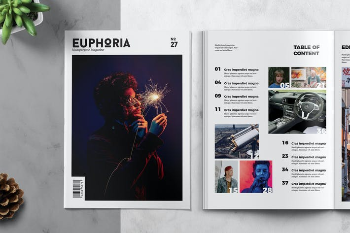 Thumbnail for EUPHORIA - Multipurpose Magazine Template