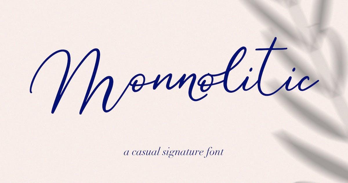 Download Monnolitic Casual Signature Font by maulanacreative