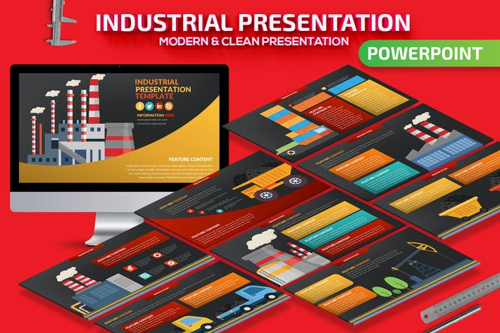 Thumbnail for Industrial Powerpoint Presentation Template