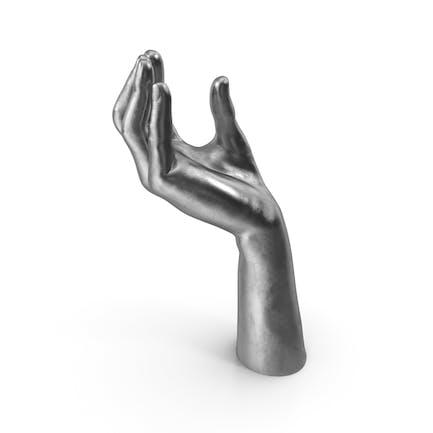 Mano plateada hacia arriba Object Hold pose