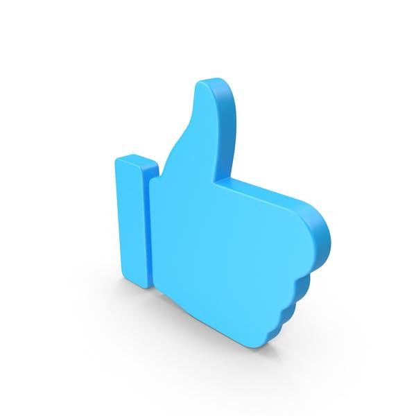 Веб-значок с палец вверх