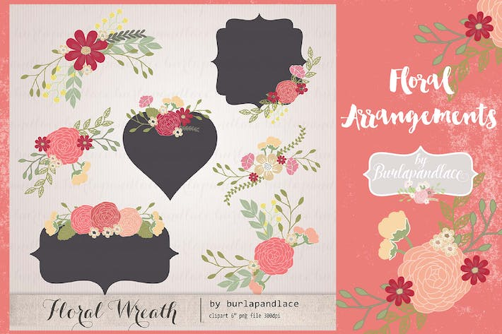 Thumbnail for Floral arrangements Wine vector