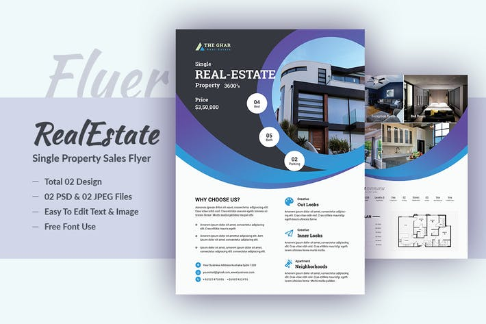 Thumbnail for Single Real-Estate Flyer Template