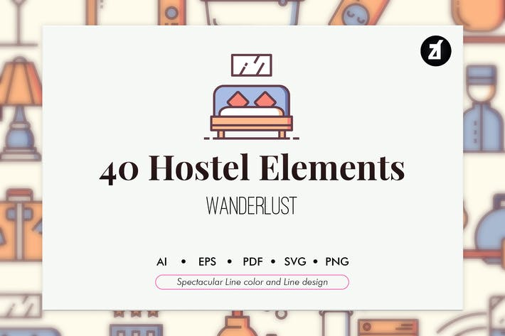 Thumbnail for 40 Hostel elements
