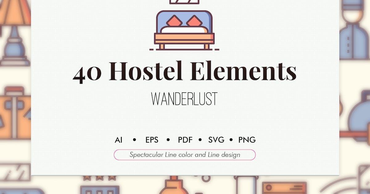 Download 40 Hostel elements by Chanut_industries