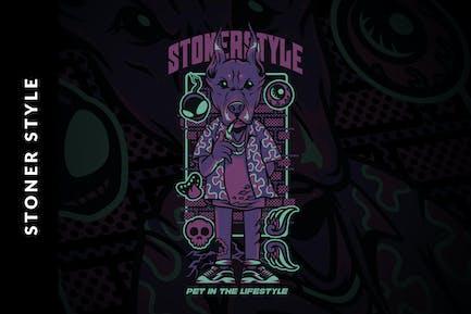 Stoner Style Illustration