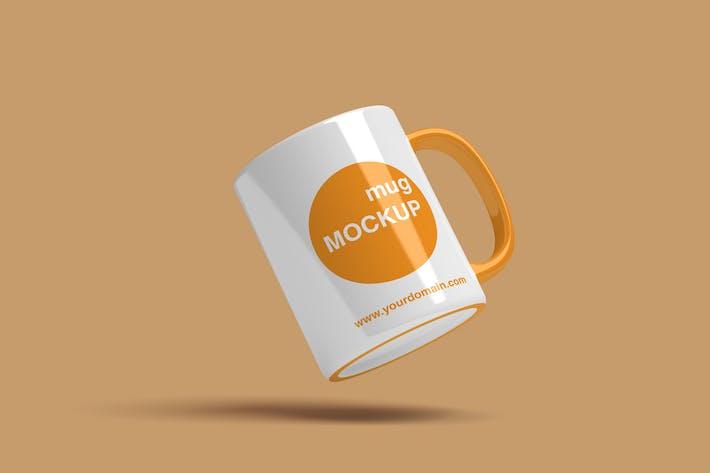 Thumbnail for Flying Mug Mockup