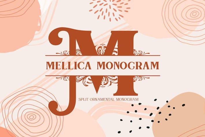 Thumbnail for Mellica Split Monogram Font