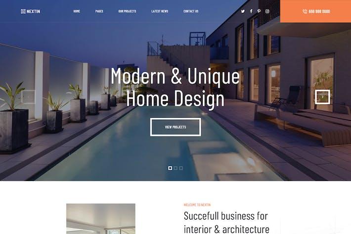 Nextin - Архитектура и интерьер Drupal Тема