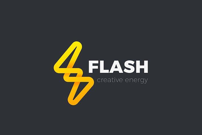 Thumbnail for Flash Logo Energy Lighting Bolt