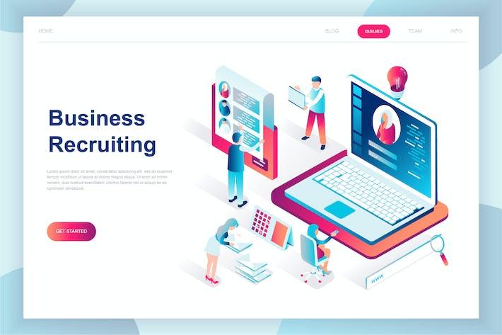 Thumbnail for Página de inicio isométrico de reclutamiento de Negocios