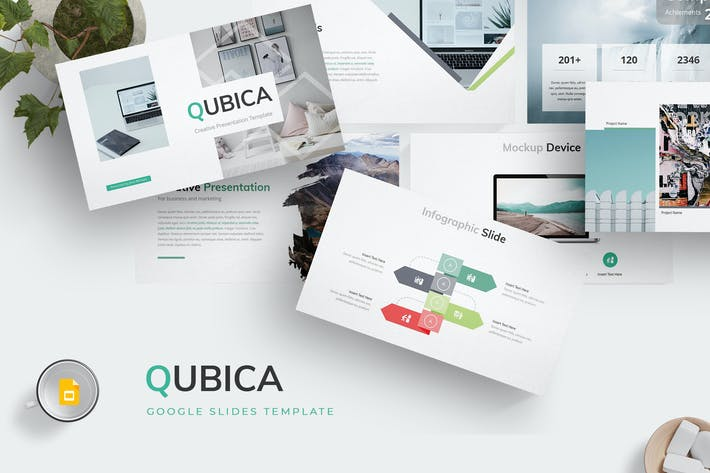 Thumbnail for Qubica - Google Slides Template