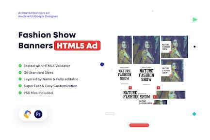 Bannières de défilé de mode HTML5