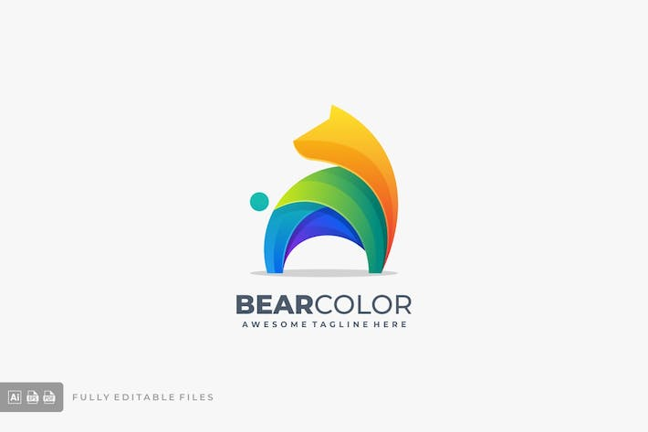 Thumbnail for Bear Colorful Logo Template