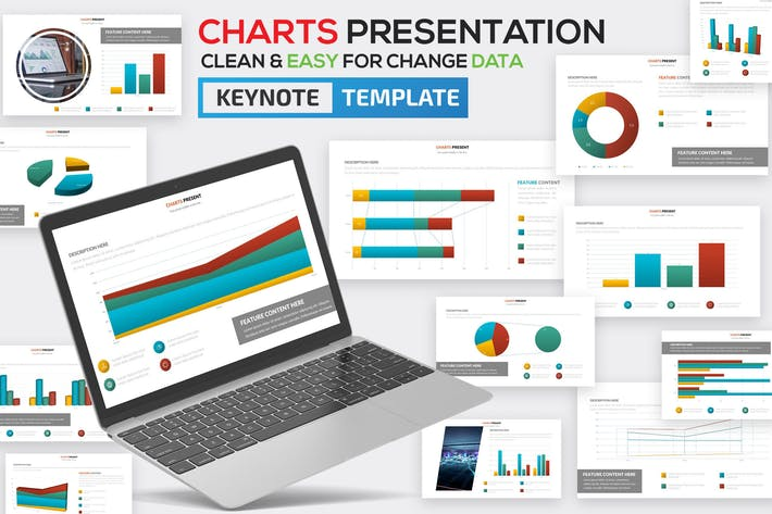 Thumbnail for Charts Keynote Template