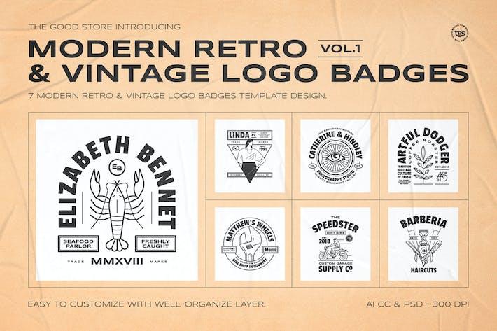 Thumbnail for Retro Logo Abzeichen Set Vol.1