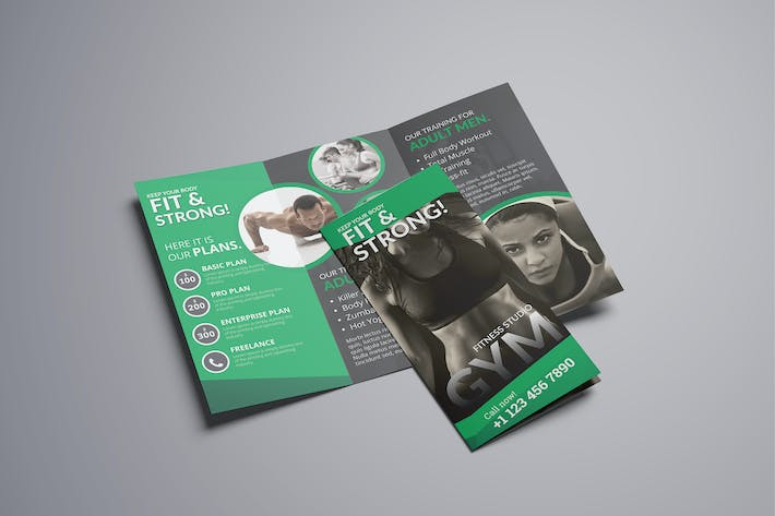Thumbnail for Fitness Trifold Brochure