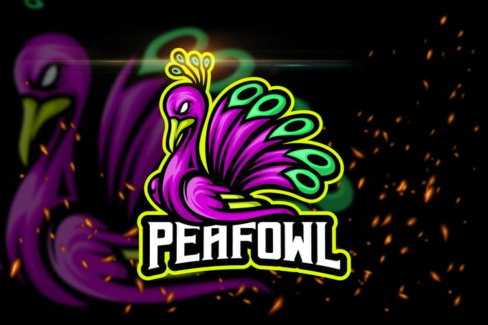 Thumbnail for Peafowl - Esport & Mascot Logo Template