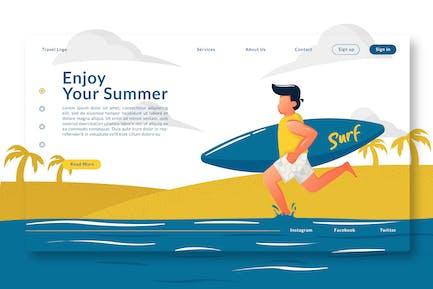 Enjoy Your Summer - Landing Page GR