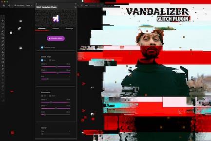 Глитч Вандализатор - Photoshop Расширения