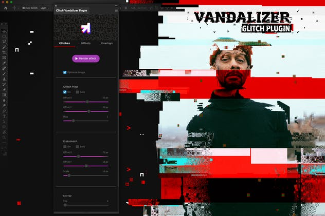 Glitch Vandalizer - Photoshop Plugin
