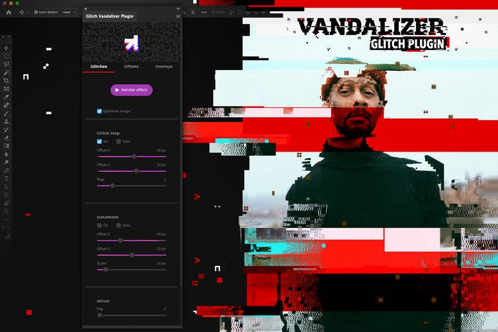 Thumbnail for Glitch Vandalizer - Photoshop Plugin