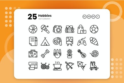 25 Hobbies Outline Icon