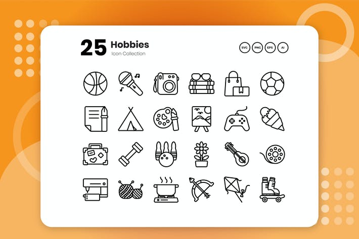 Thumbnail for 25 Hobbies Outline Icon