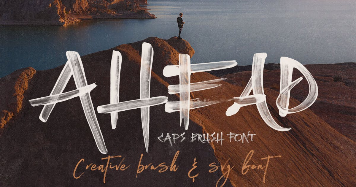Download Ahead Brush SVG Font by cruzine