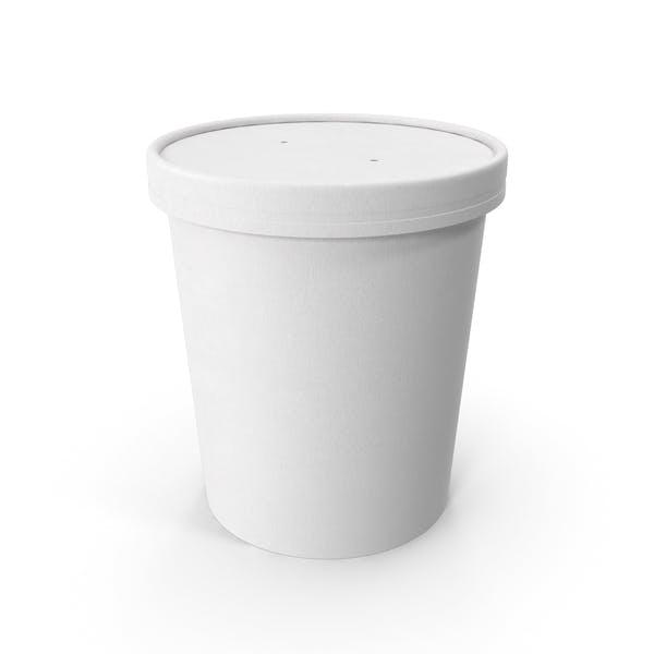 Белая бумага Food Cup с вентилируемой крышкой одноразовое ведро для мороженого 32 унции 900 мл