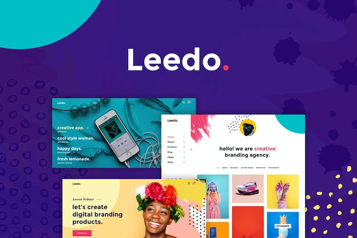 Thumbnail for Leedo - Creative & Colorful Portfolio PSD Template