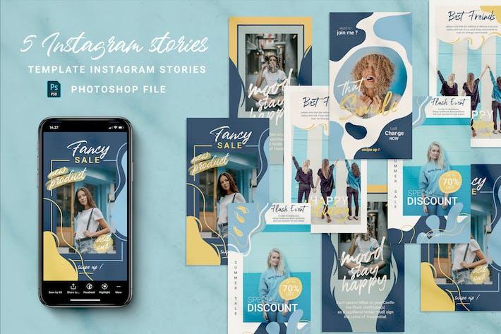 Thumbnail for Blue Instagram stories