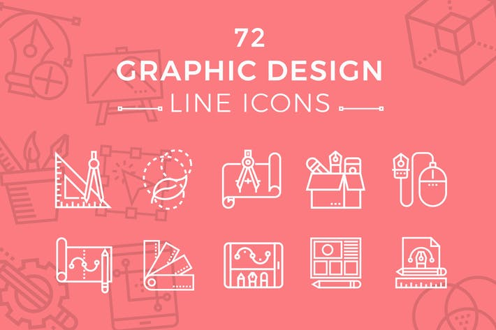 Thumbnail for Graphic Design Line Icons