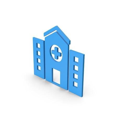 Symbol Hospital Blue