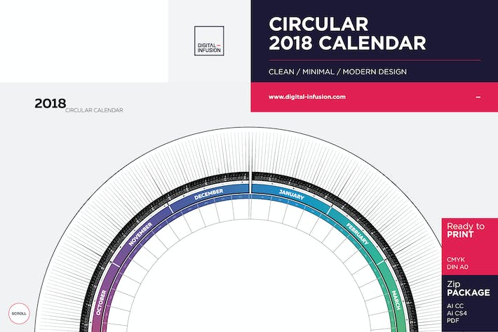 Thumbnail for Circular 2018 Calendar