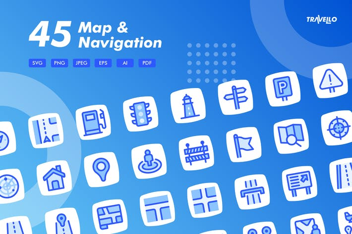 Thumbnail for Travello Map & Navigation Icons
