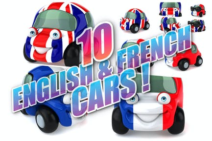 10 English & French Cars !