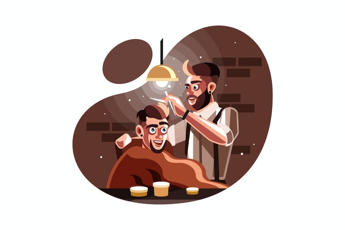 Thumbnail for Barber man serving client at barber shop