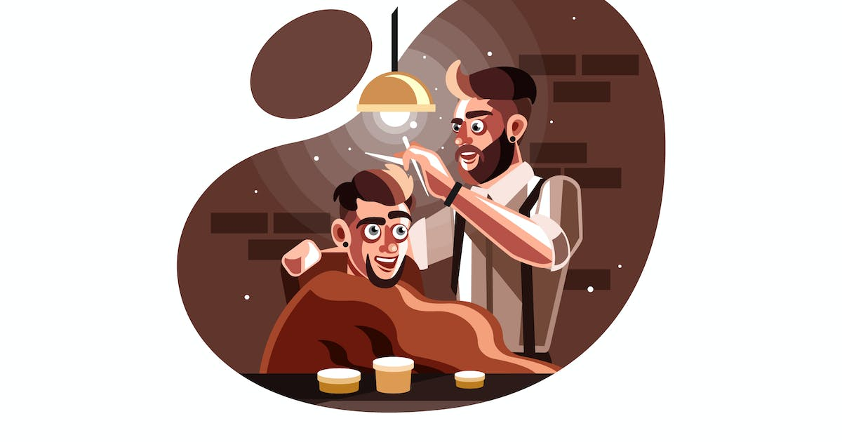 Download Barber man serving client at barber shop by IanMikraz