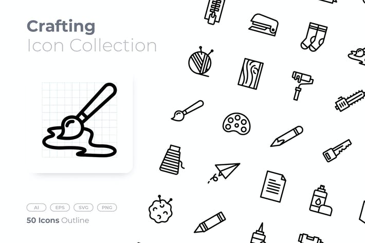 Thumbnail for Crafting Outline Icon