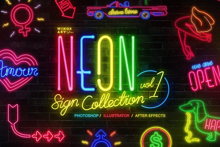Thumbnail for Neon Sign Collection: Volume One