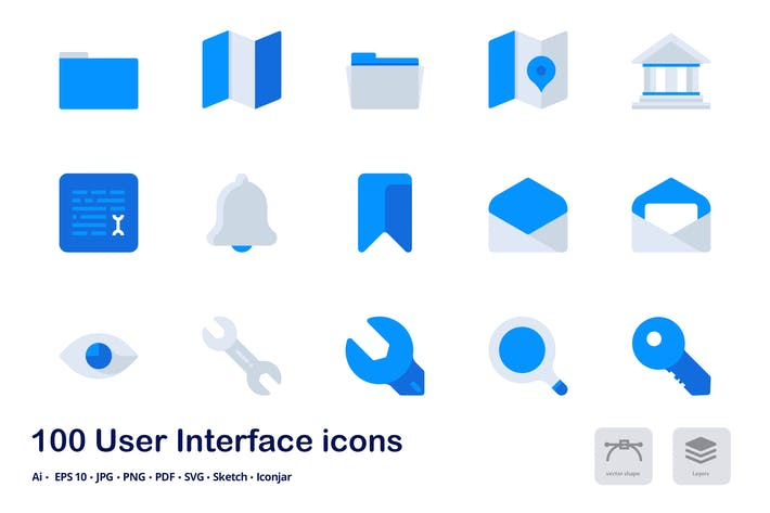 Thumbnail for User Interface Accent Duo Tone Flat Icons